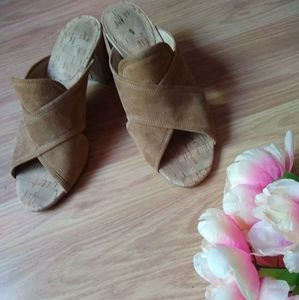 3/$30 Nude/Tan Natural Boho Strappy Sandals Size 7